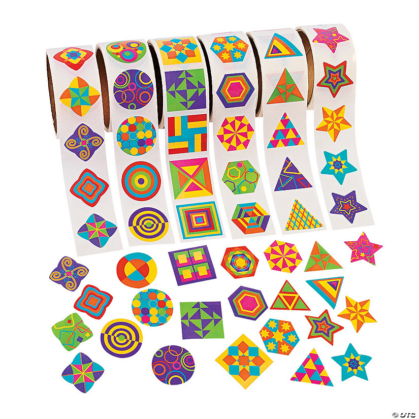 Funky Geometric Shapes Rolls of Stickers Audio Thumbnail