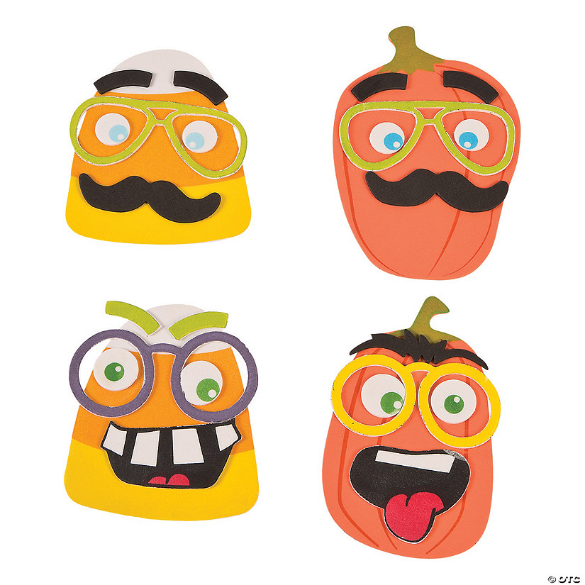 Funny Halloween Face Magnets
