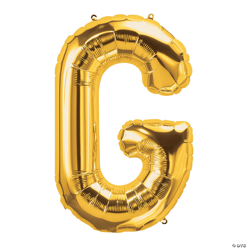 G Gold Letter Mylar Balloon