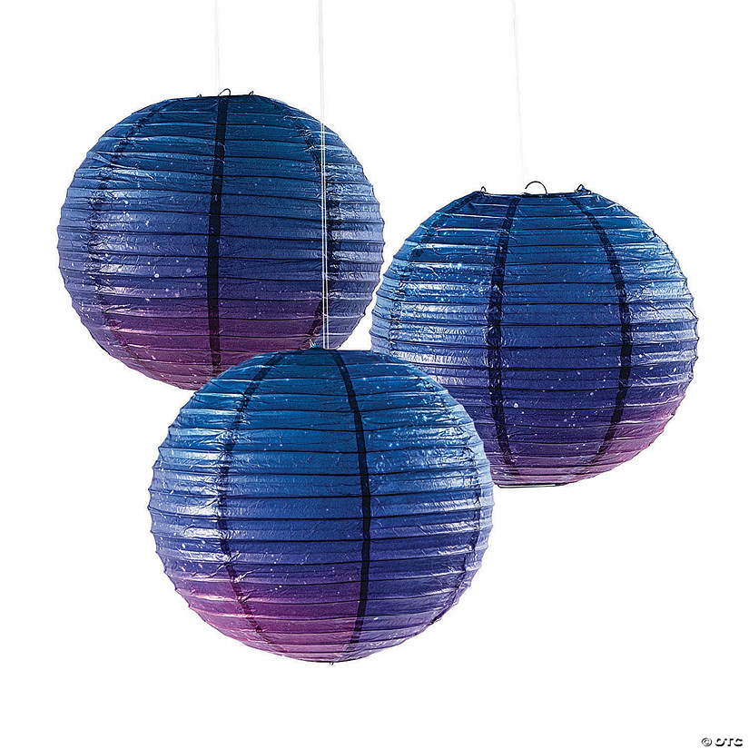 Galaxy Print Hanging Paper Lanterns Audio Thumbnail