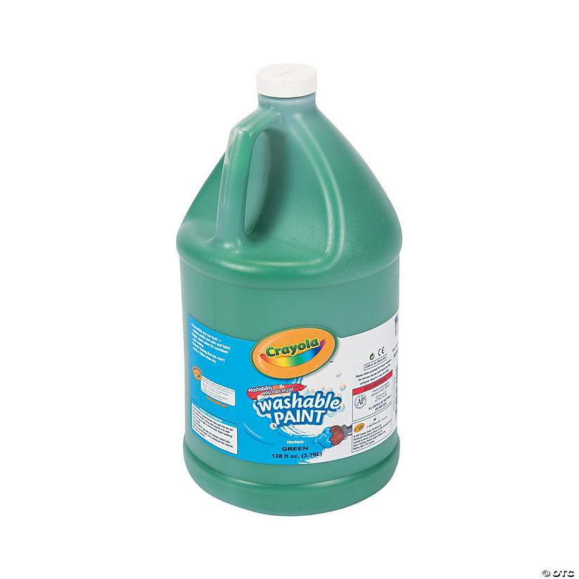 Gallon Crayola® Green Washable Paint