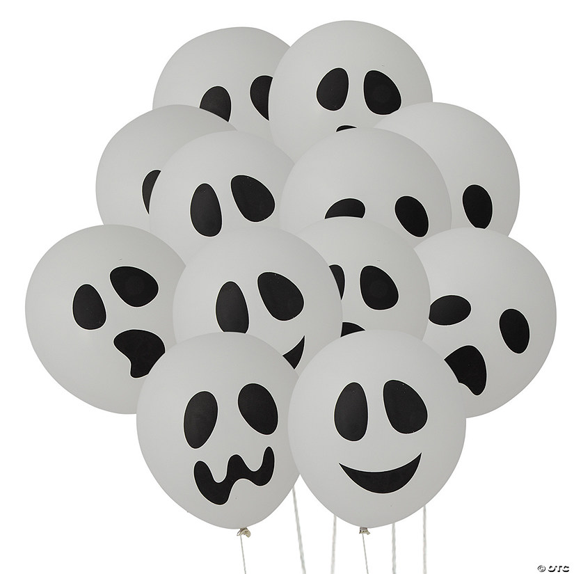 "Ghost 11"" Latex Balloons Halloween Décor Image Thumbnail"
