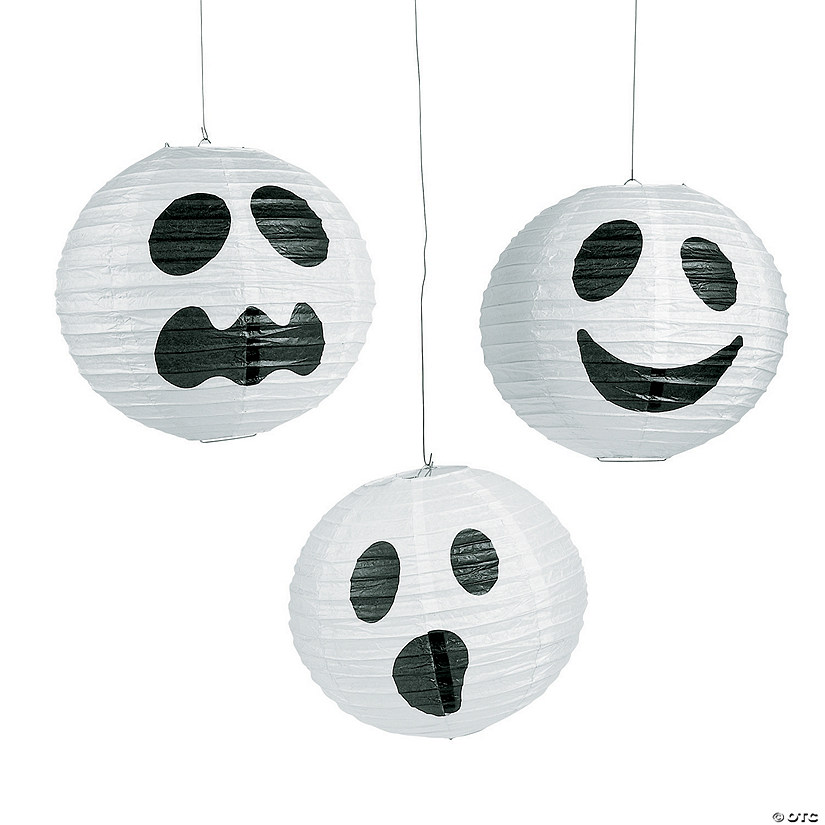 Ghost Hanging Paper Lanterns Halloween Décor