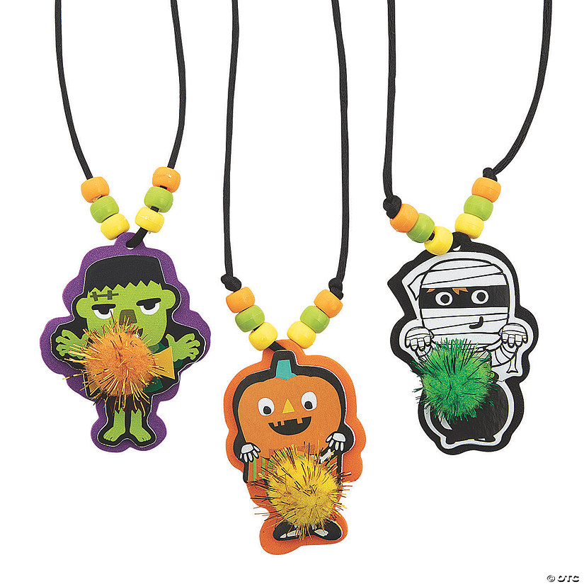 Ghoul Gang Pom-Pom Necklace Craft Kit Audio Thumbnail