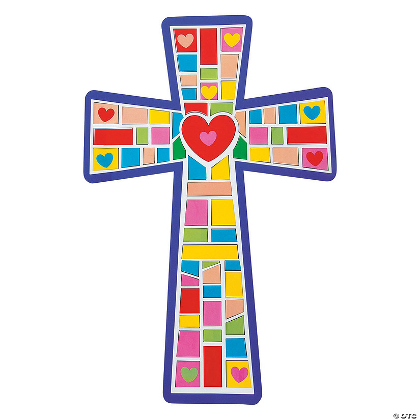 Giant Cross Mosaic Sticker Scenes