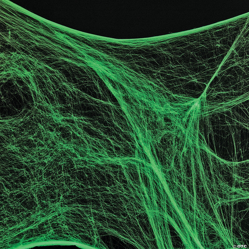 Giant Glow In The Dark Spider Web Halloween Decor
