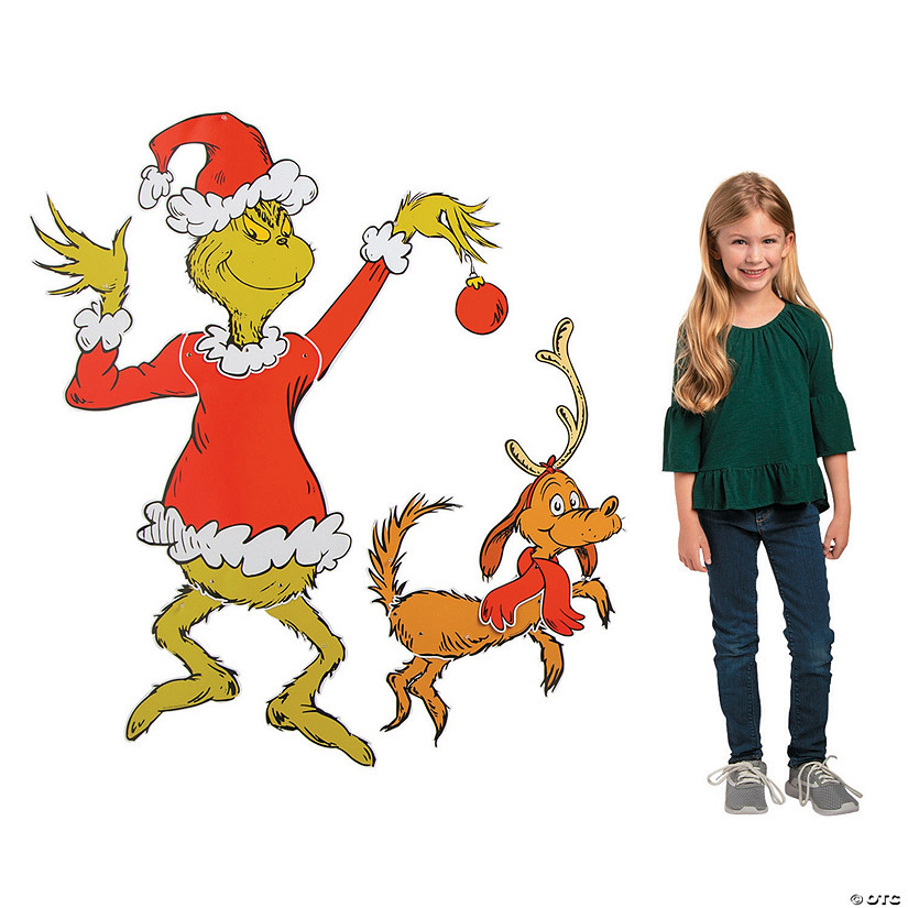 Giant Jointed Dr. Seuss™ The Grinch Cutouts Image Thumbnail