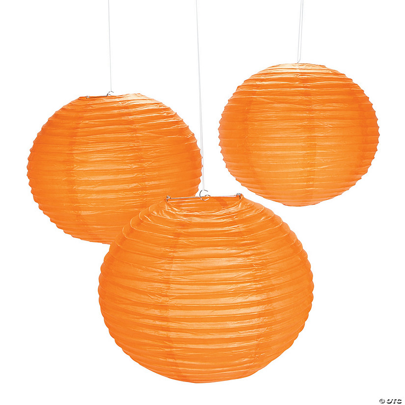 Giant Orange Pumpkin Purée Hanging Paper Lanterns Audio Thumbnail