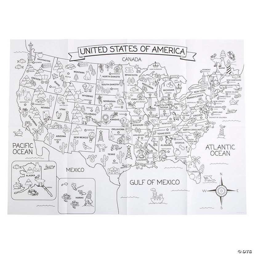 Giant United States Coloring Mat