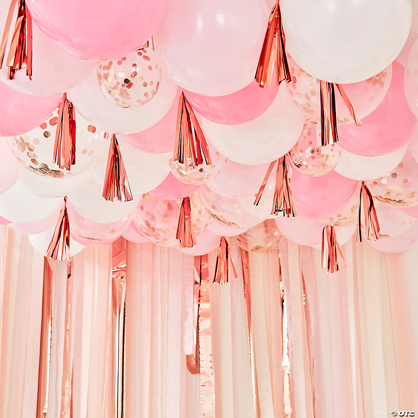 Ginger Ray Blush, White & Rose Gold Balloon Ceiling Kit Image Thumbnail