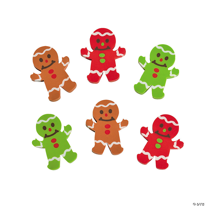 Gingerbread Erasers - 72 Pc. Audio Thumbnail