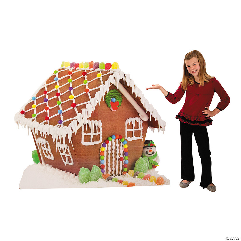 Gingerbread House Cardboard Stand-Up