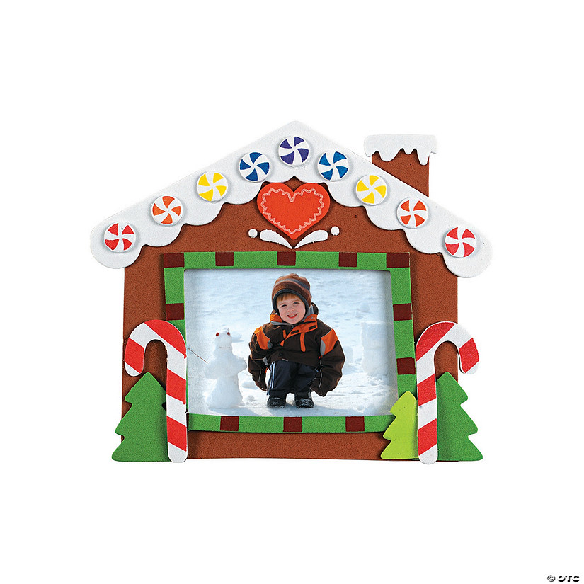Gingerbread House Picture Frame Magnet Craft Kit Audio Thumbnail