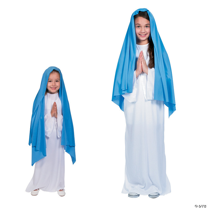 Girl's Blue & White Mary Costume