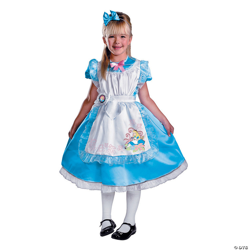 Girl's Deluxe Alice in Wonderland™ Alice Costume Audio Thumbnail