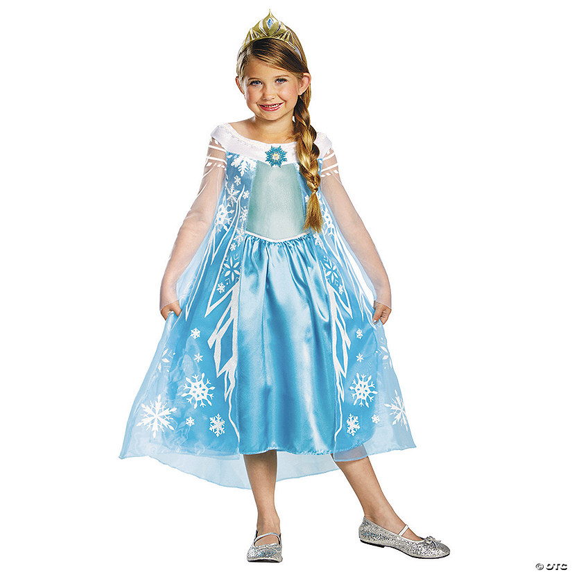 Girl's Deluxe Disney's Frozen™ Elsa Costume Audio Thumbnail