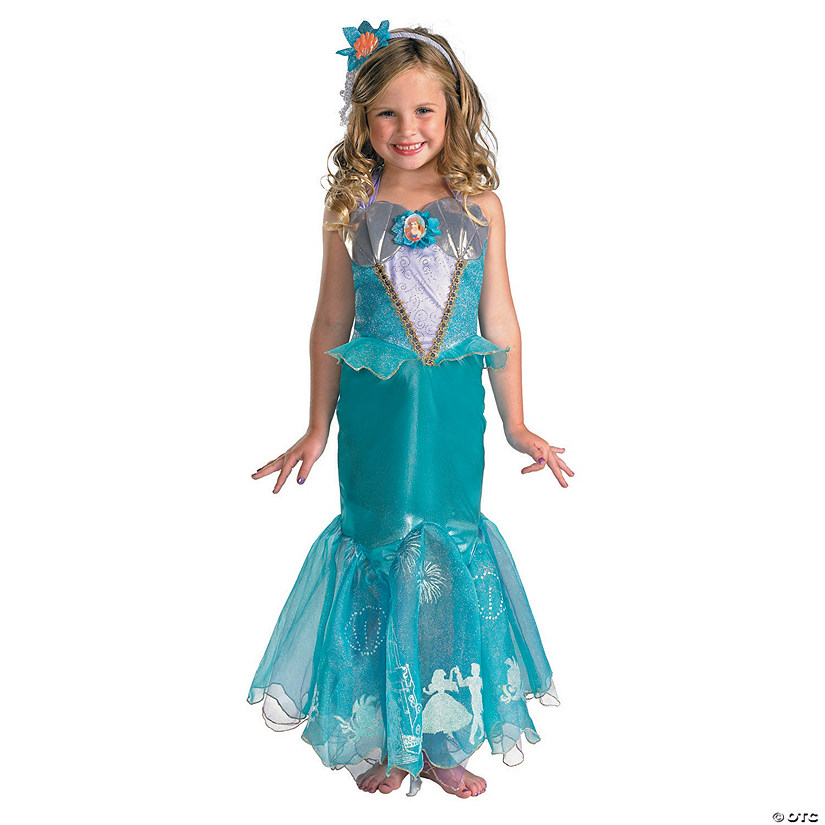 Girl's Deluxe Disney's The Little Mermaid™ Ariel Prestige Costume Audio Thumbnail