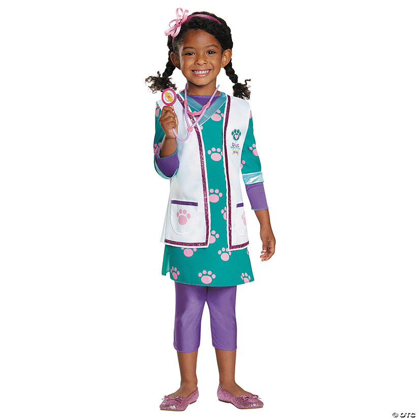 Girl's Deluxe Doc McStuffins™ Pet Vet Costume Audio Thumbnail