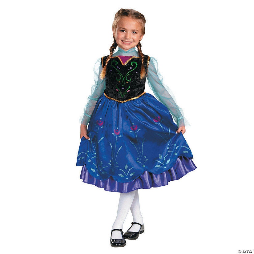 Girl's Deluxe Frozen™ Anna Costume Audio Thumbnail