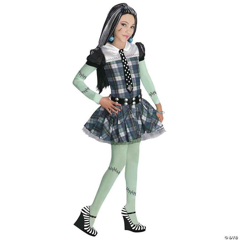 Girl's Edgy Monster High™ Frankie Stein Costume