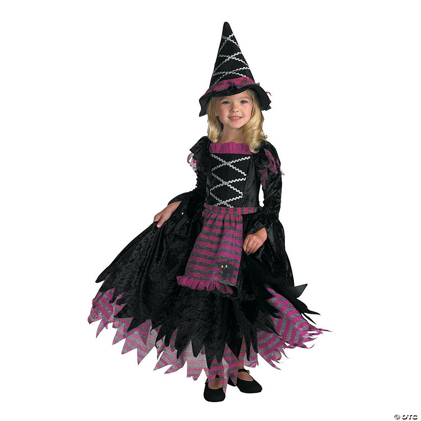 Girl\'s Fairy Tale Witch Gown Costume