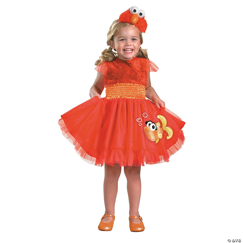 Girl's Frilly Sesame Street™ Elmo Costume