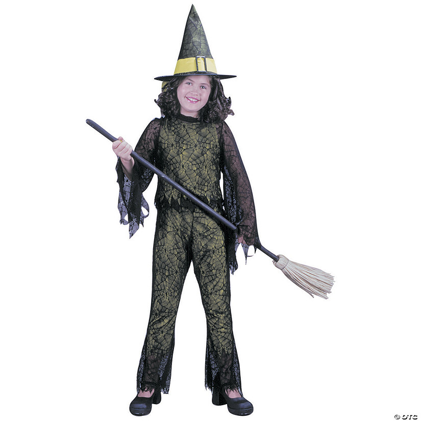 Girl's Green Funky Witch Costume Audio Thumbnail