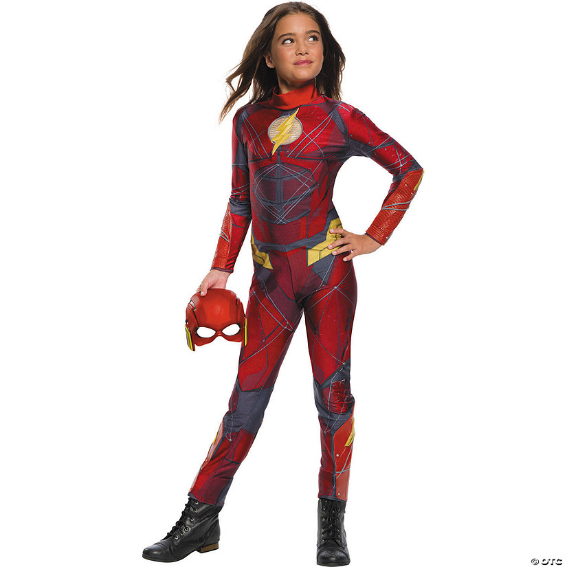 Girl's Justice League™ Flash Jumpsuit Costume Audio Thumbnail