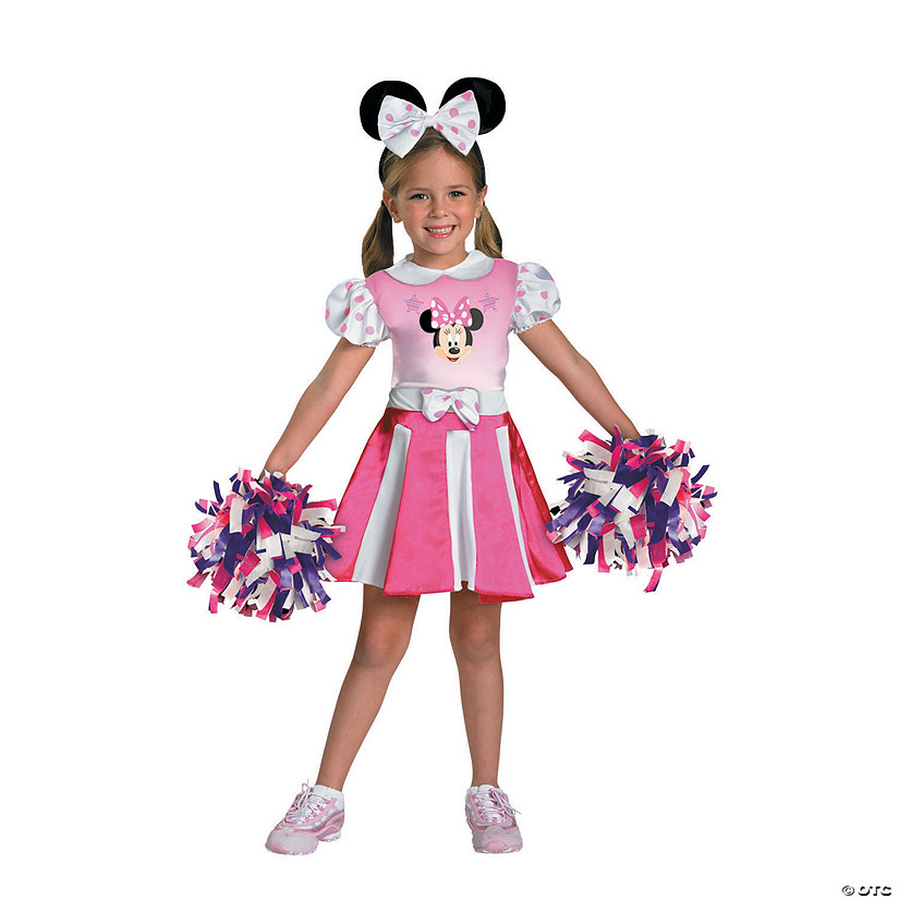 Girl's Minnie Mouse™ Cheerleader Costume Audio Thumbnail