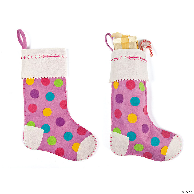 girls polka dot christmas stocking - Girl Christmas Stocking