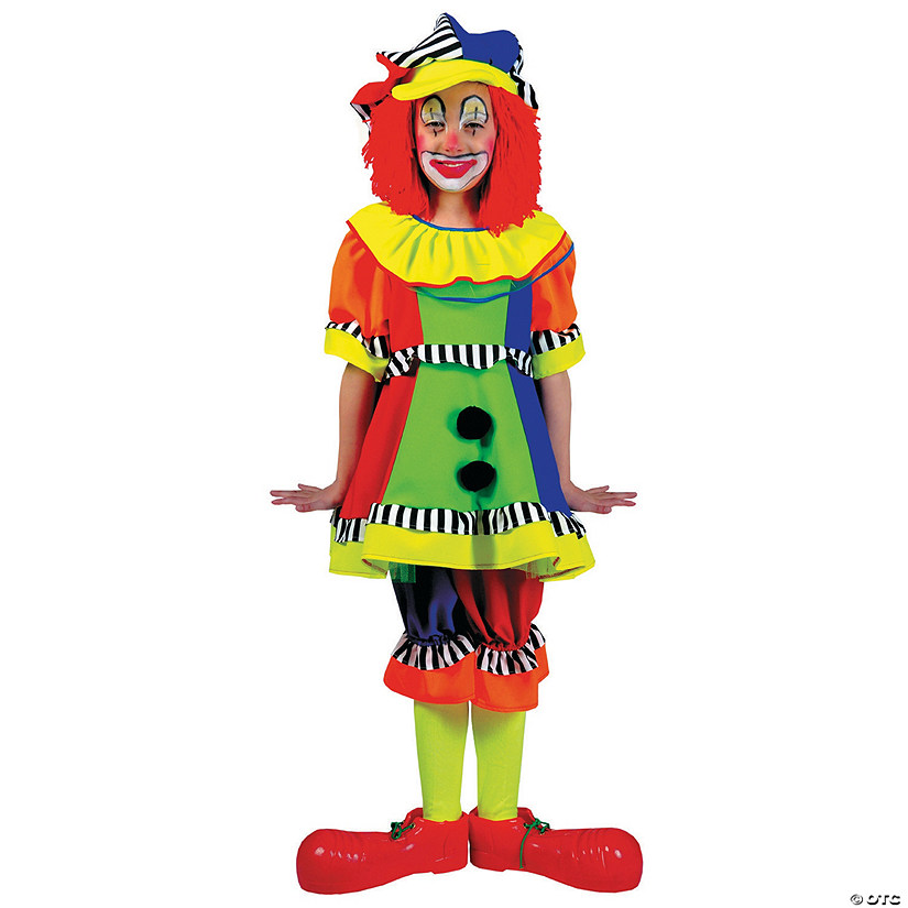 Girl's Spanky Stripes Clown Costume