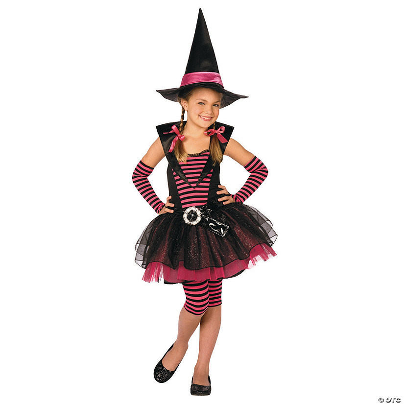 Girl's Stripey Witch Costume