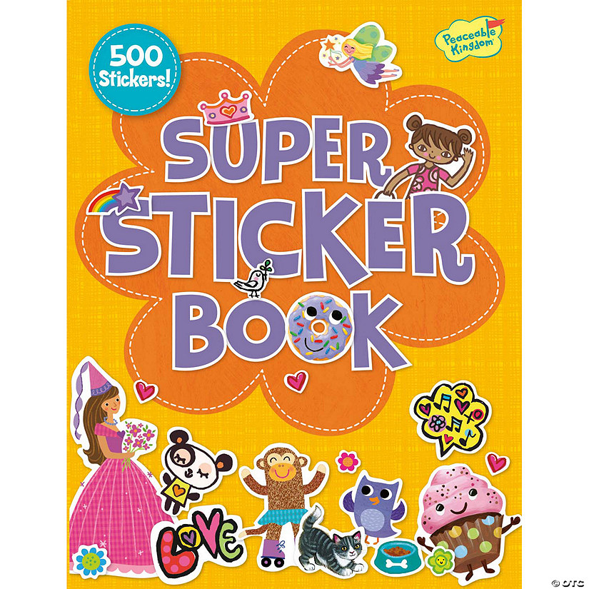 Girl Super Sticker Activity Book Image Thumbnail