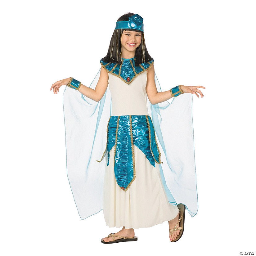 Girl's Blue & Gold Cleopatra Costume Audio Thumbnail
