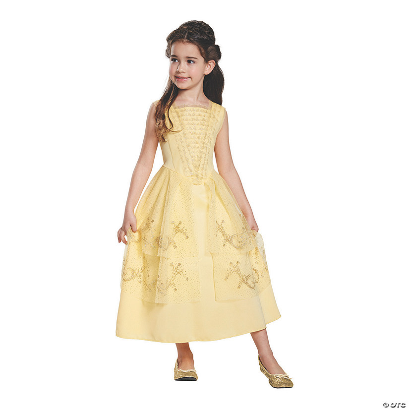 Girl's Classic Beauty and the Beast Belle Ball Gown Costume Audio Thumbnail
