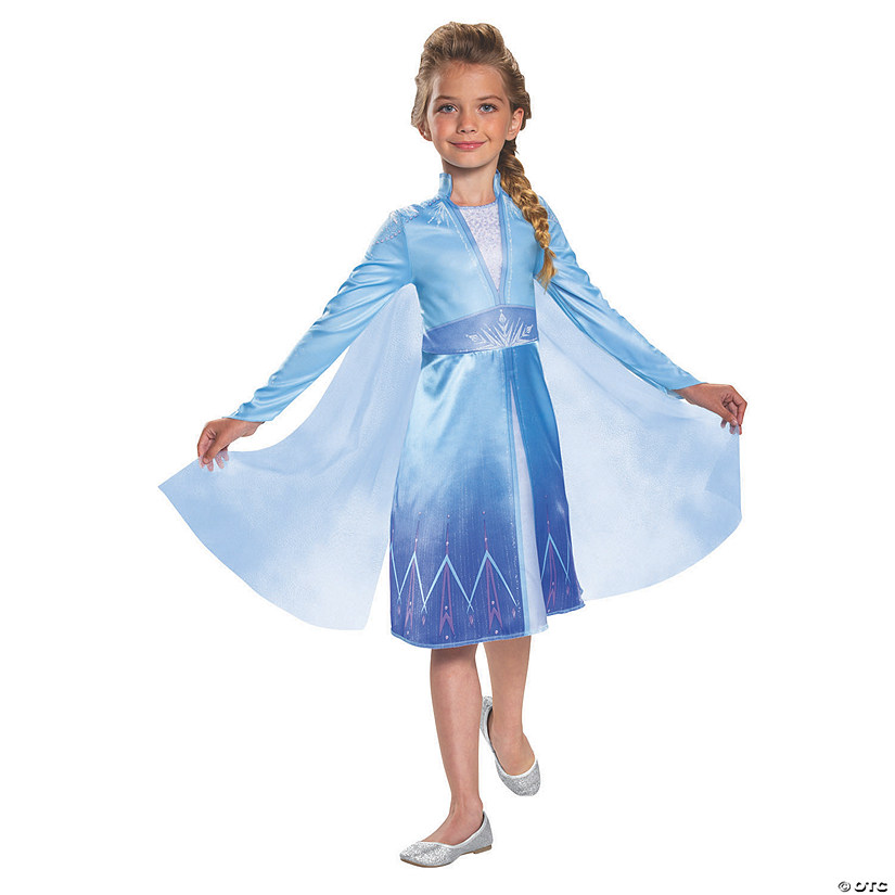 Girl's Classic Disney's Frozen II Elsa Costume Audio Thumbnail
