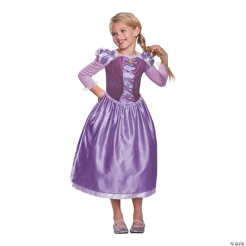 Girl's Classic Rapunzel Day Dress Costume Audio Thumbnail