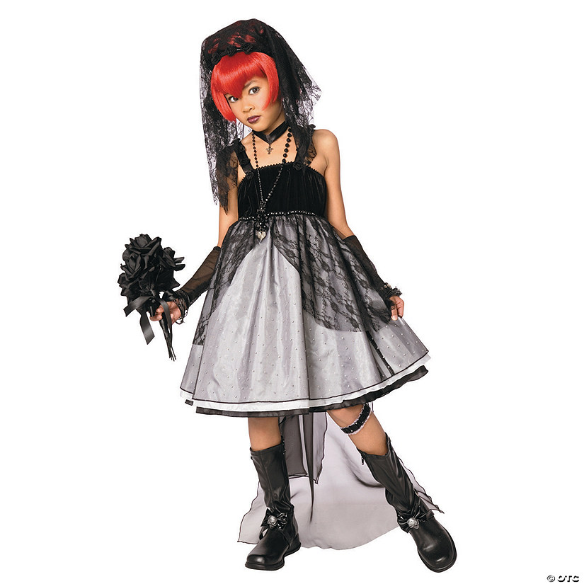 Girl's Dark Bride Costume