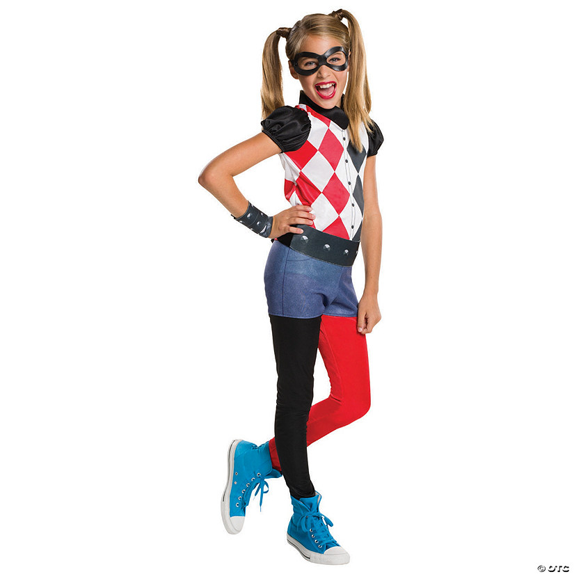 Girl's DC™ Superhero Girls Harley Quinn Costume Audio Thumbnail