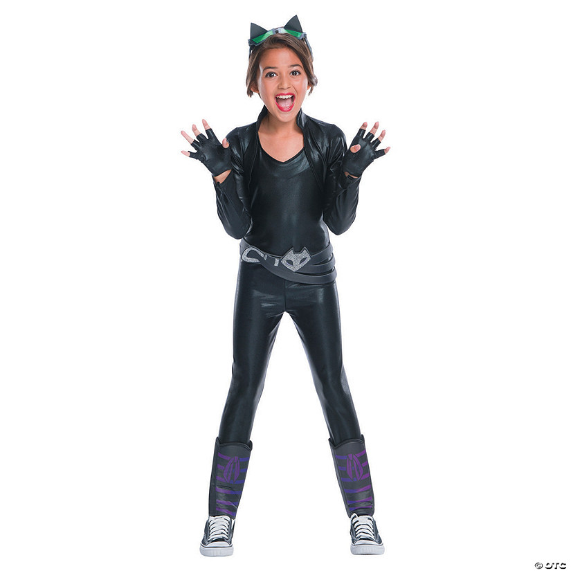 Girls Deluxe Dc Superhero Catwoman Costume