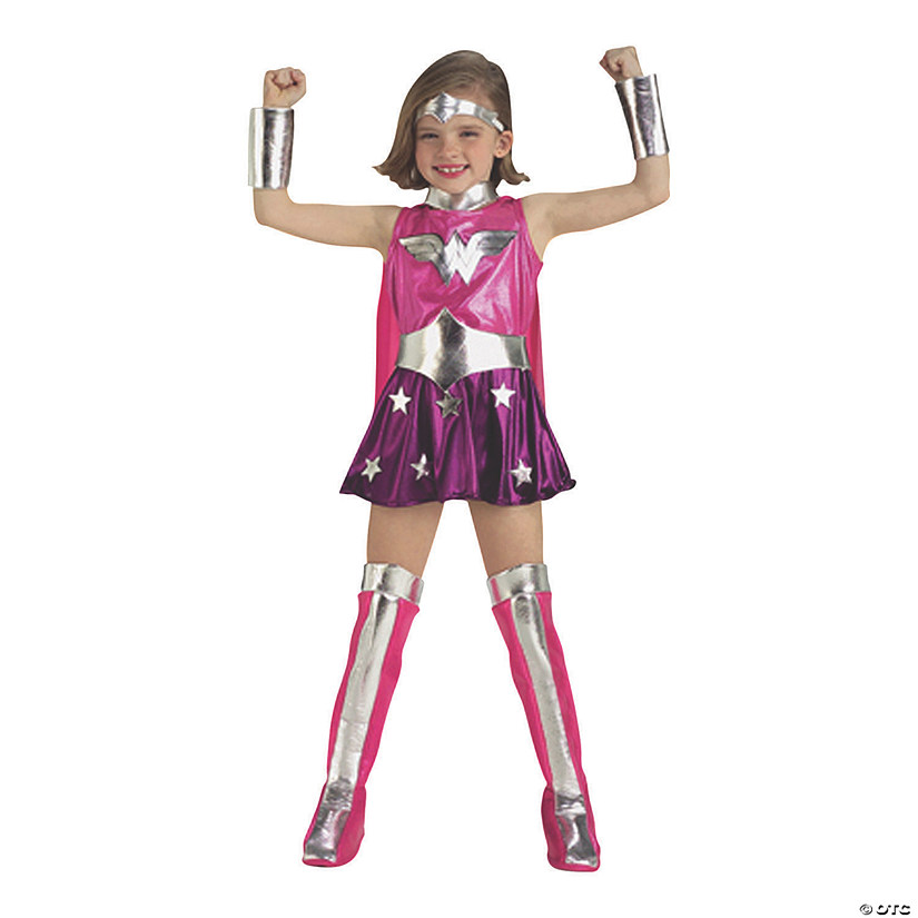 Girl's Deluxe Pink Wonder Woman Costume Audio Thumbnail