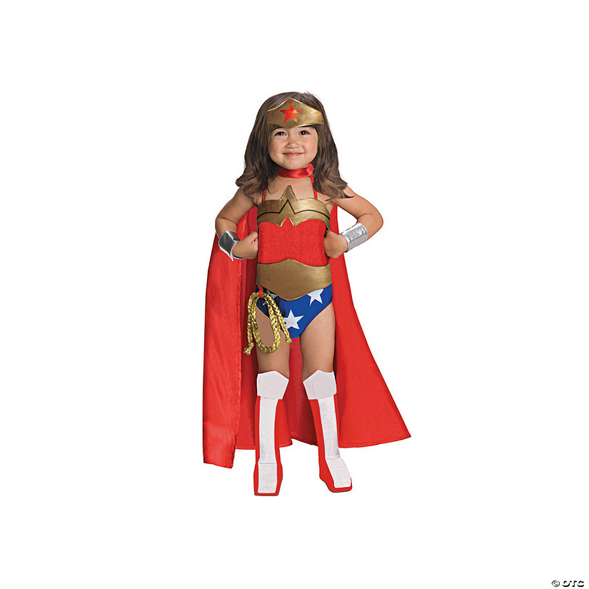 Girl's Deluxe Wonder Woman™ Costume Image Thumbnail