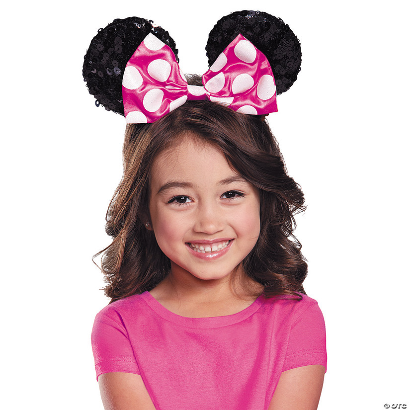 Girl's Pink Minnie Mouse Sequin Ears