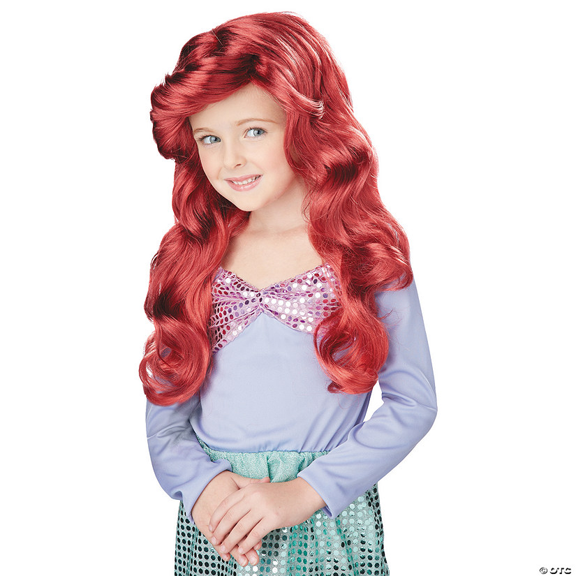 Girl's Red Little Mermaid Wig Audio Thumbnail