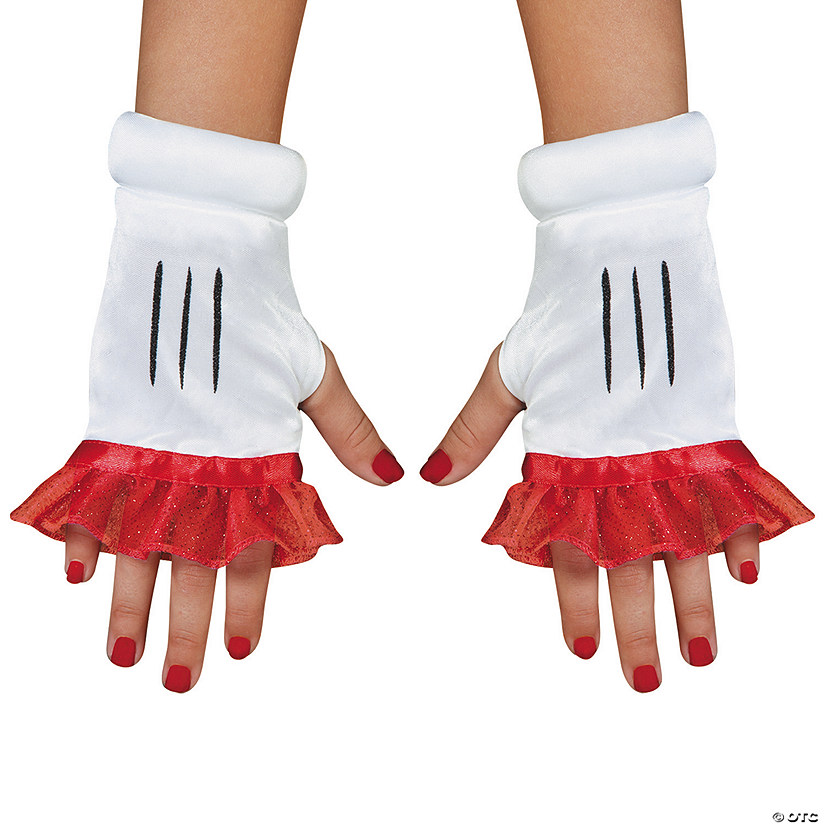 Girl's Red Minnie Glovettes