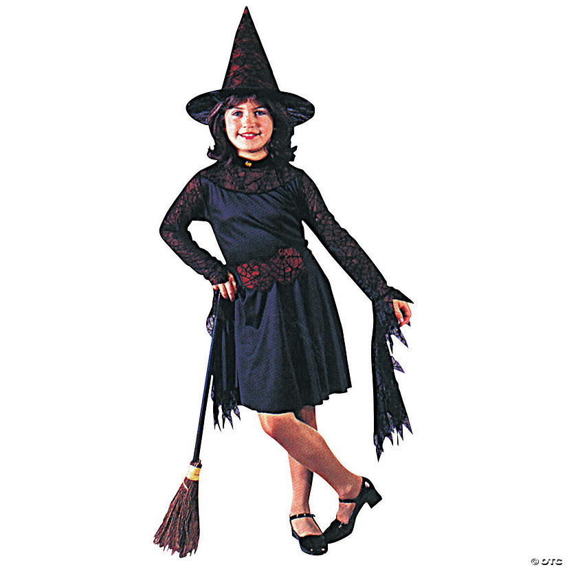 Girl's Witch Of The Web Costume