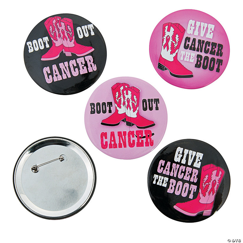 Give Cancer The Boot Buttons