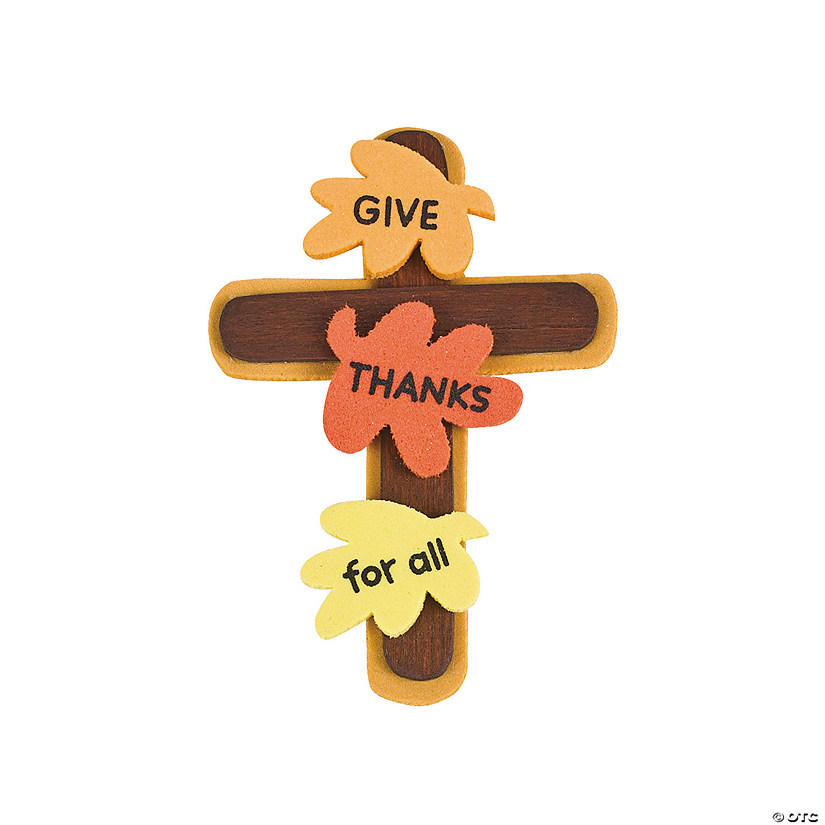 """Give Thanks"" Cross Pin Craft Kit"