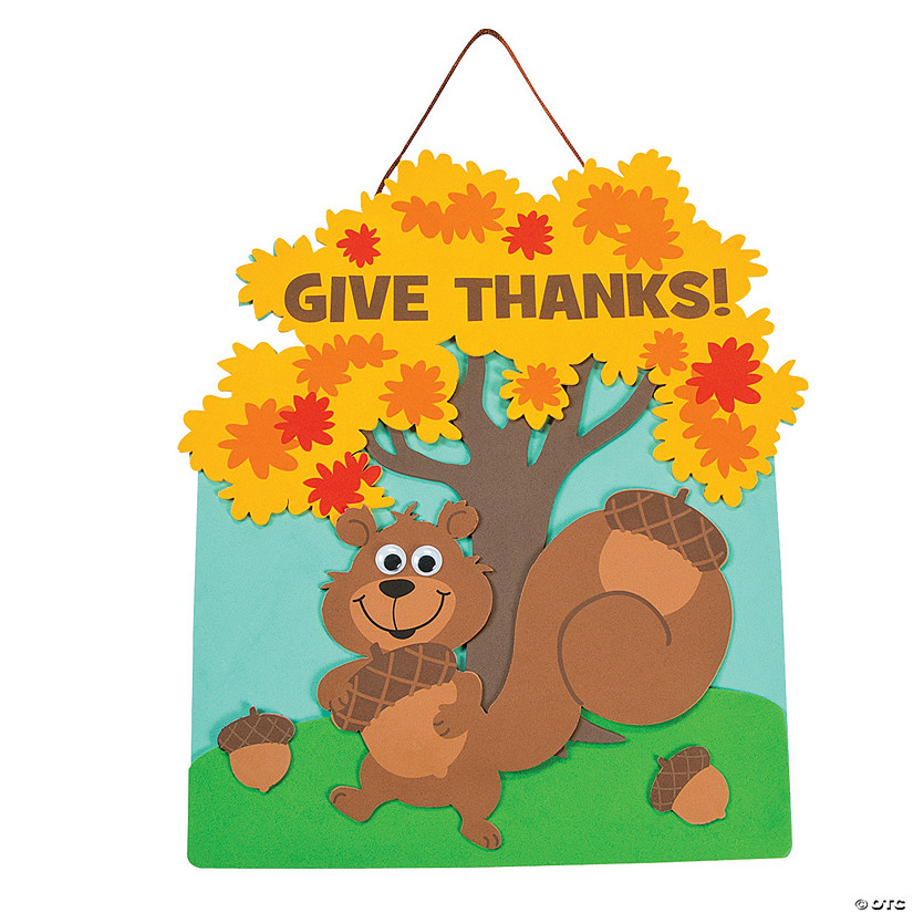 """Give Thanks"" Squirrel Sign Craft Kit Audio Thumbnail"