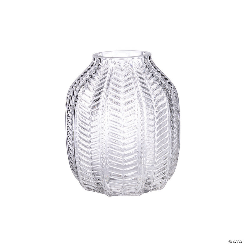 Glass Vase with Ridges